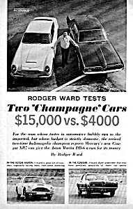 1967 MERC. XR7 COUGAR vs. ASTON MARTIN DB-6 Mag Article (Image1)