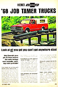 1968 CHEVROLET PICKUP Truck Magazine Ad (Image1)