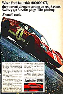 1960s FORD GT RACE CAR Automobile Ad (Image1)