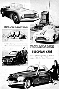 1948 Odd EUROPEAN Cars Gatso, Alfa, Fiat+ Mag. Article (Image1)