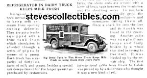 1926 REFRIGERATED MILK TRUCK Mag. Article (Image1)