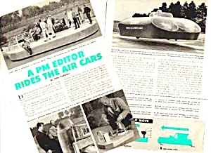 1960 AIR CARS (Hover Cars Crafts) Magazine Article (Image1)