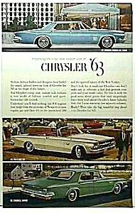 1963 CHRYSLER Automobile Ad (Image1)