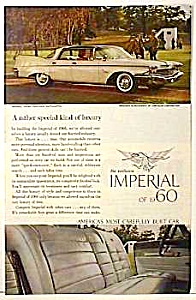 1960 CHRYSLER IMPERIAL CROWN Auto Ad (Image1)