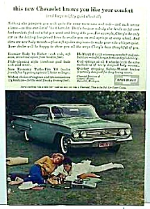 1960 Chevy CHEVROLET BEL AIR SPORT COUPE Auto Ad (Image1)