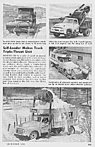1955 New SELF LOADING TRUCKS Mag. Article (Image1)