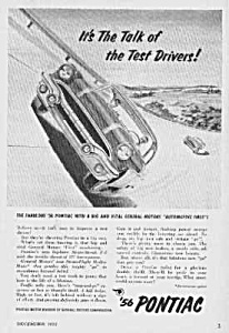 1956 PONTIAC Auto Automobile Car Ad (Image1)