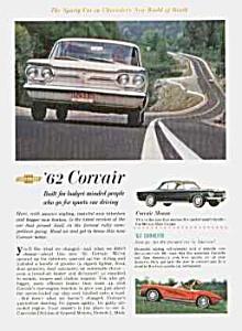 1962 CHEVY CORVAIR/CORVETTE Auto Ad (Image1)