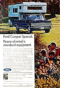 1967 FORD PICKUP CAMPER Magazine Ad (Image1)