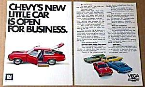 1971 CHEVY VEGA Magazine Ad (Image1)