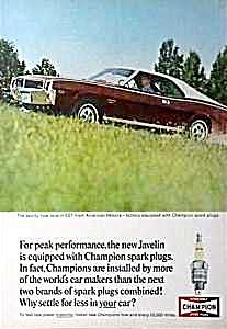 1968 JAVELIN SST Auto Magazine Ad (Image1)