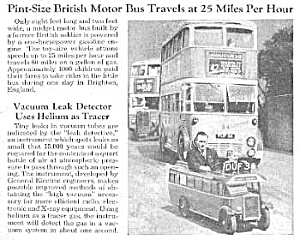 1946 MINI DRIVEABLE British Bus Mag Article (Image1)