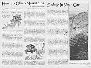 1926 CLIMB MOUNTAINS IN YOUR AUTO Mag Article (Image1)