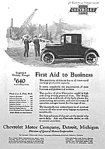 1924 CHEVROLET Chevy Auto Ad (Image1)