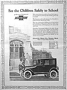 1923 CHEVROLET MOTOR CAR Art Deco Mag. Ad (Image1)