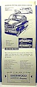 1950s BORGWARD Auto Advertising Flyer (Image1)