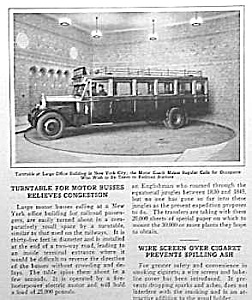 COOL 1929 NYC BUS/Turntable Mag Article L@@K! (Image1)