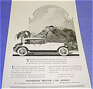 1919 THOMPSON MOTOR CAR - Pittsburgh Auto Ad (Image1)