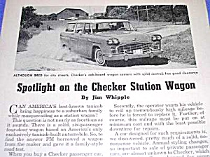 1963 CHECKER STATION WAGON Automobile Magazine Article (Image1)