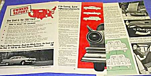 1957 FORD AUTO Owners Report Magazine Article (Image1)