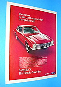 1971 FORD MAVERICK Auto Ad (Image1)