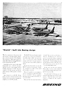 1955 Boeing B-47 Stratojet Aircraft Aviation Ad