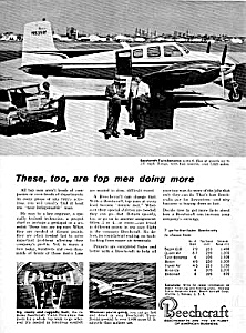 1961 BEECHCRAFT Twin-Bonanza AIRCRAFT Aviation Ad (Image1)