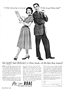 1956 B.o.a.c. Airlines Magazine Ad