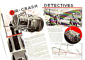 1939 AIR-CRASH INVESTIGATION DETECTIVES Mag. Article (Image1)