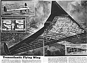 1946 FLYING WING AIRCRAFT Aviation Mag. Article (Image1)