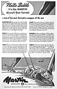 1944 MARTIN AIRCRAFT GUN TURRET Mag. Ad (Image1)