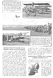 1921 Triplane Aircraft Mag. Article