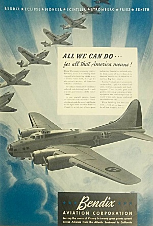 Nice 1942 Bendix Aircraft Wwii Aviation Ad