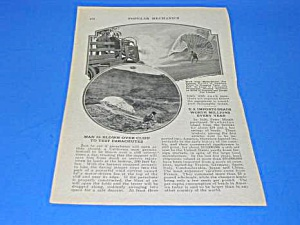 1926 Parachute Cliff Testing Mag. Article