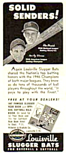 1947 STAN MUSIAL + MICKEY VERNON Louisville Slugger Ad (Image1)