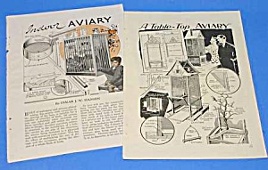 1930s BUILD BIRD AVIARY Magazine Articles (Image1)