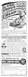 1945 JOE BONOMO - Muscle/Physique Ad (Image1)