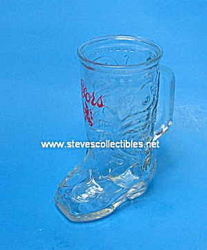 Pair of RETRO Coors ADVERTISING BEER GLASS BOOTS (Image1)