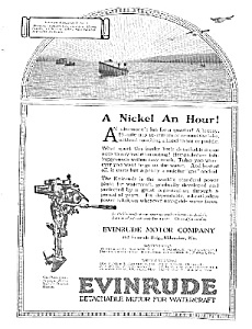 1921 EVINRUDE Boat Motor Mag. Ad (Image1)