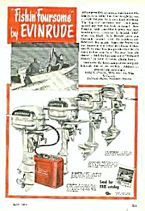 1950 EVINRUDE Boat Motor Mag. Ad (Image1)