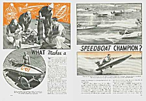 1939 SPEEDBOAT RACING Mag. Article (Image1)