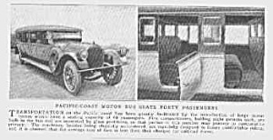 1922 PACIFIC COAST 40 SEAT BUS Mag Article (Image1)