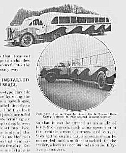1933-2 Piece PASSENGER BUS Mag Article (Image1)