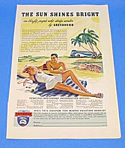 1939 GREYHOUND BUS Ad (Image1)