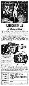 1941 UNIVEX CORSAIR II CAMERA Ad (Image1)