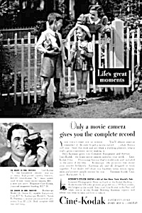 1939 NEW YORK WORLDS FAIR Kodak Movie Camera Ad (Image1)