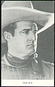 Vintage TOM MIX Cowboy Artview Postcard (Image1)