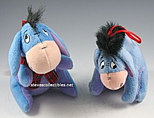 Pair EEYORES FROM WINNIE THE POOH Plush Ornaments (Image1)