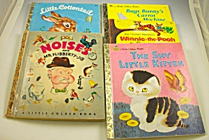 Lot Of 5-little Golden Books-mr. Flibberty-jib+