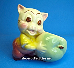 Vintage PORKY PIG Character Pottery Planter (Image1)